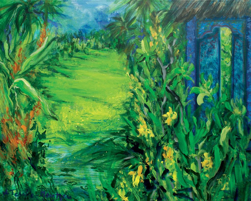 Blaue Tür - Bali, Acryl (0,8 x 1 m) 2006