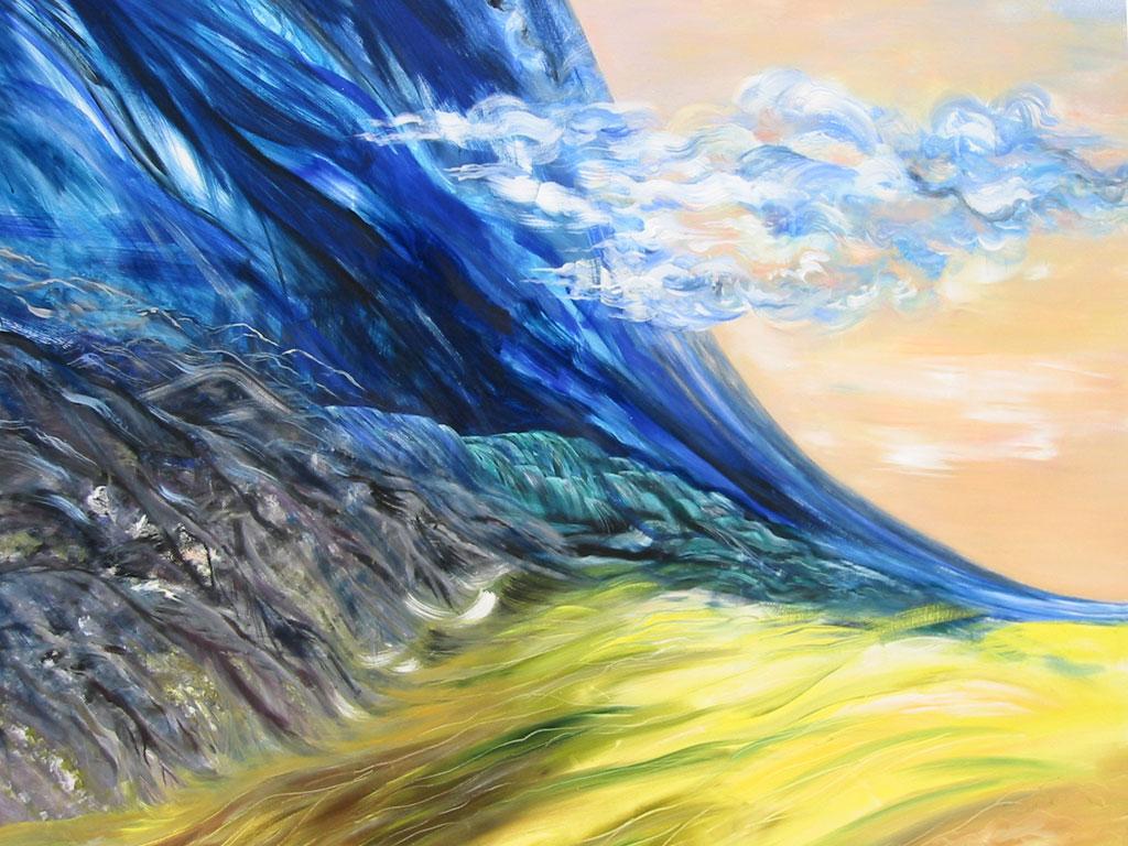 Elemente, Acryl (2,1 x 2,3 m) 2002