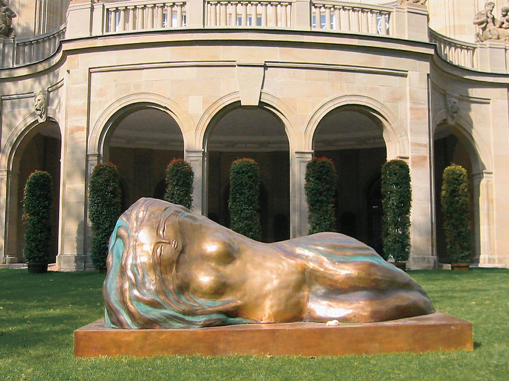 Skulptur, Antje Tesche-Mentzen, Bronze, Bad Kissingen