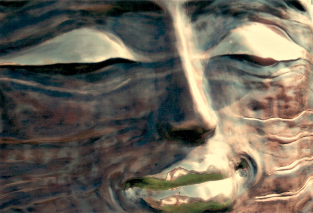 Großes Lächeln, Bronze, Detail