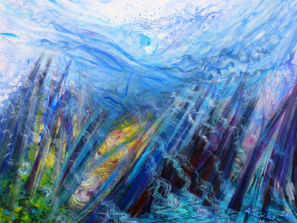 Hinter den Dingen, Acryl (0,8 x 1 m) 2012