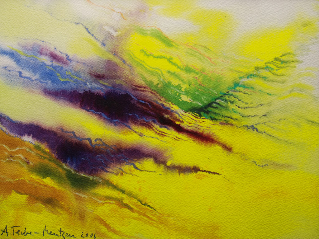 Lavendel, Aquarell (0,3 x 0,4 m) 2006