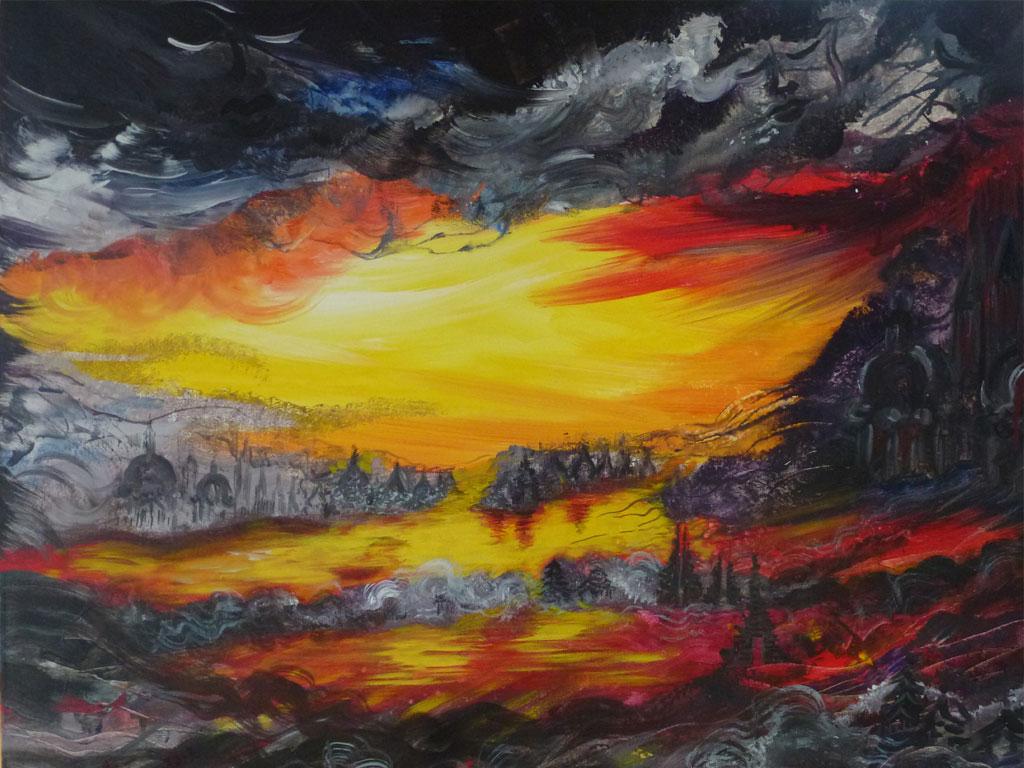 Le divin poème, Acryl (0,8 x 1 m) 2013