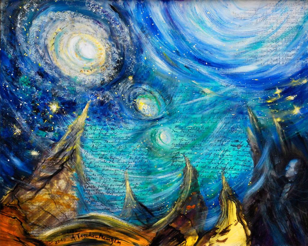 Mahler Achte Sinfonie, Acryl (0,8 x 1 m) 2010