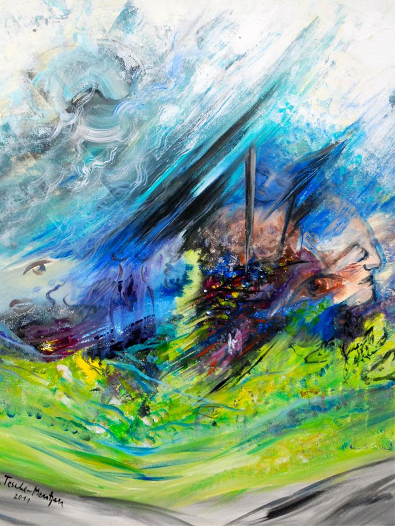 Mahler-Lieder-eines-fahrenden-Gesellen-Axryl-1x0,8m-2011