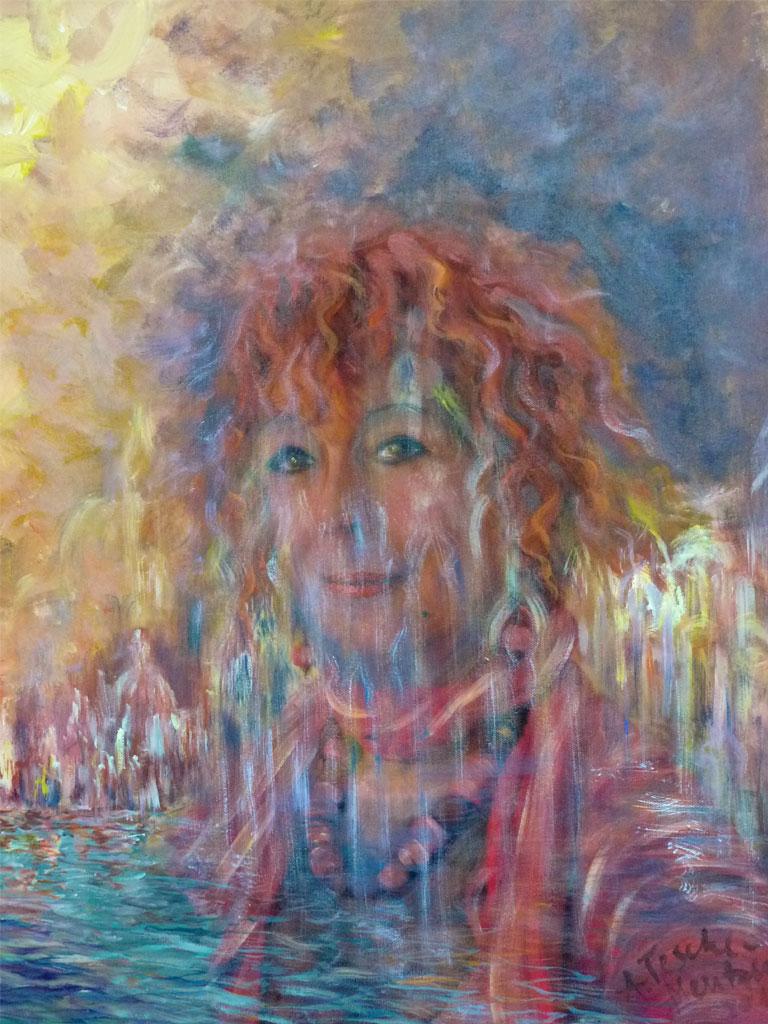 Selbstportrait, Acryl (0,8 x 0,6 m) 2012
