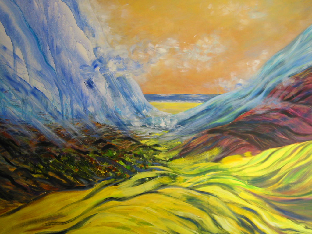Strömungen, Acryl (2,1 x 2,3 m) 2002