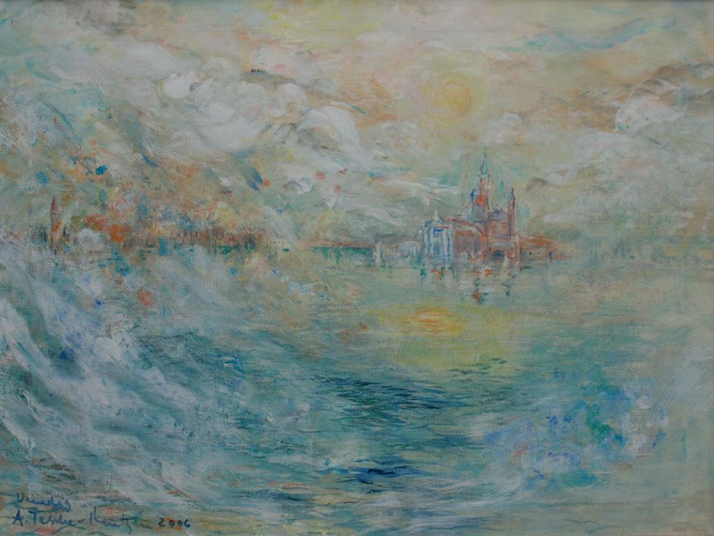 Antje Tesche-Mentzen, Malerei, Venedig, Elemente, Acryl