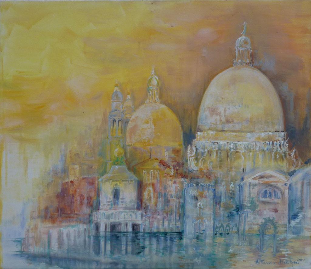 Venedig, Acryl (1,2 x 1,4 m) 2001