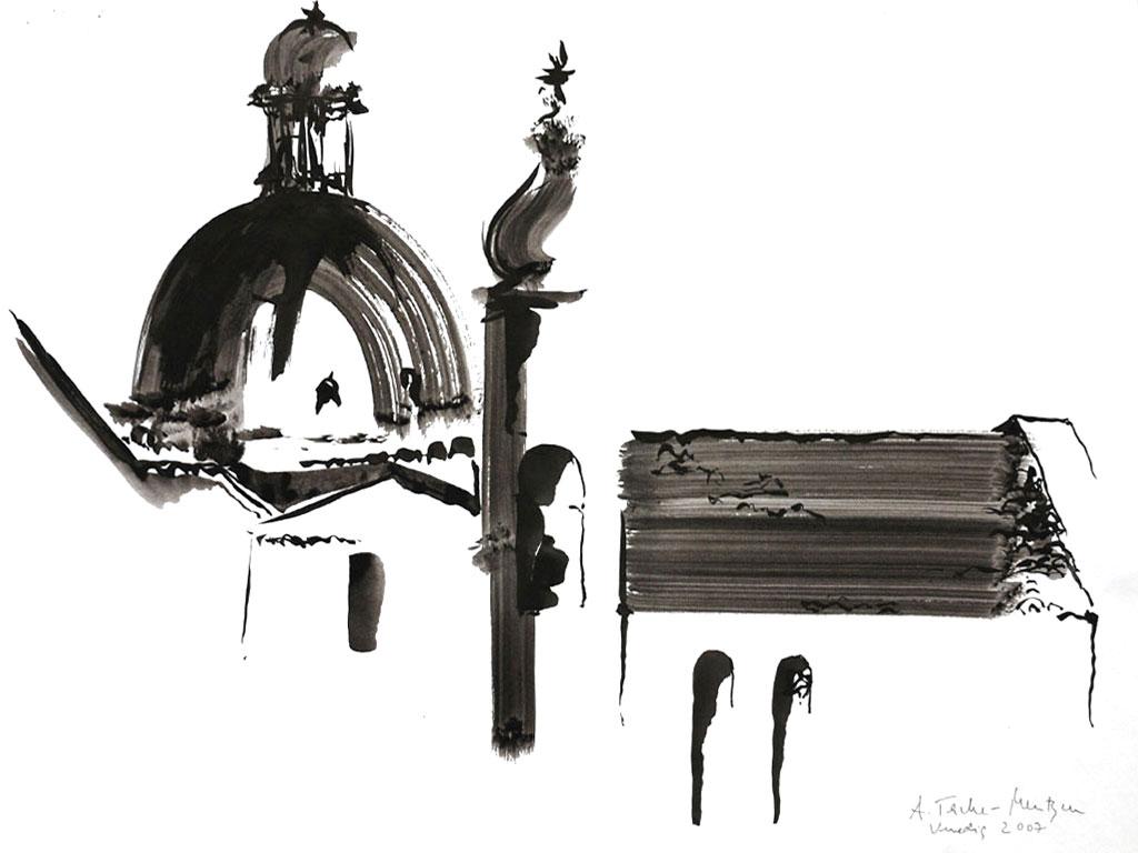 Venedig, Tuschezeichnung (0,3 x 0,4 m) 2007