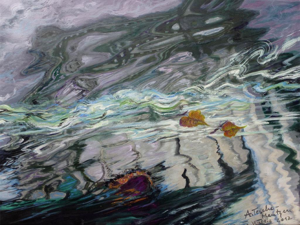 Wasserspiegelungen, Acryl (0,5 x 0,7 m) 2008