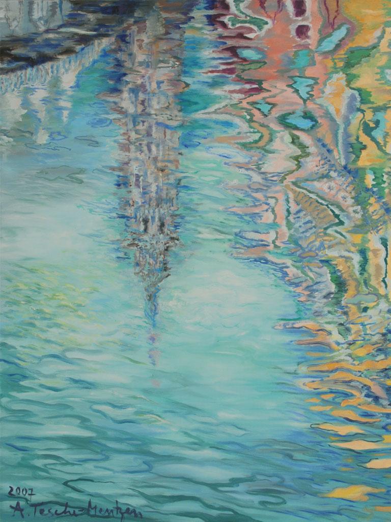 Wasserspiegelungen, Acryl (1 x 0,8 m) 2007