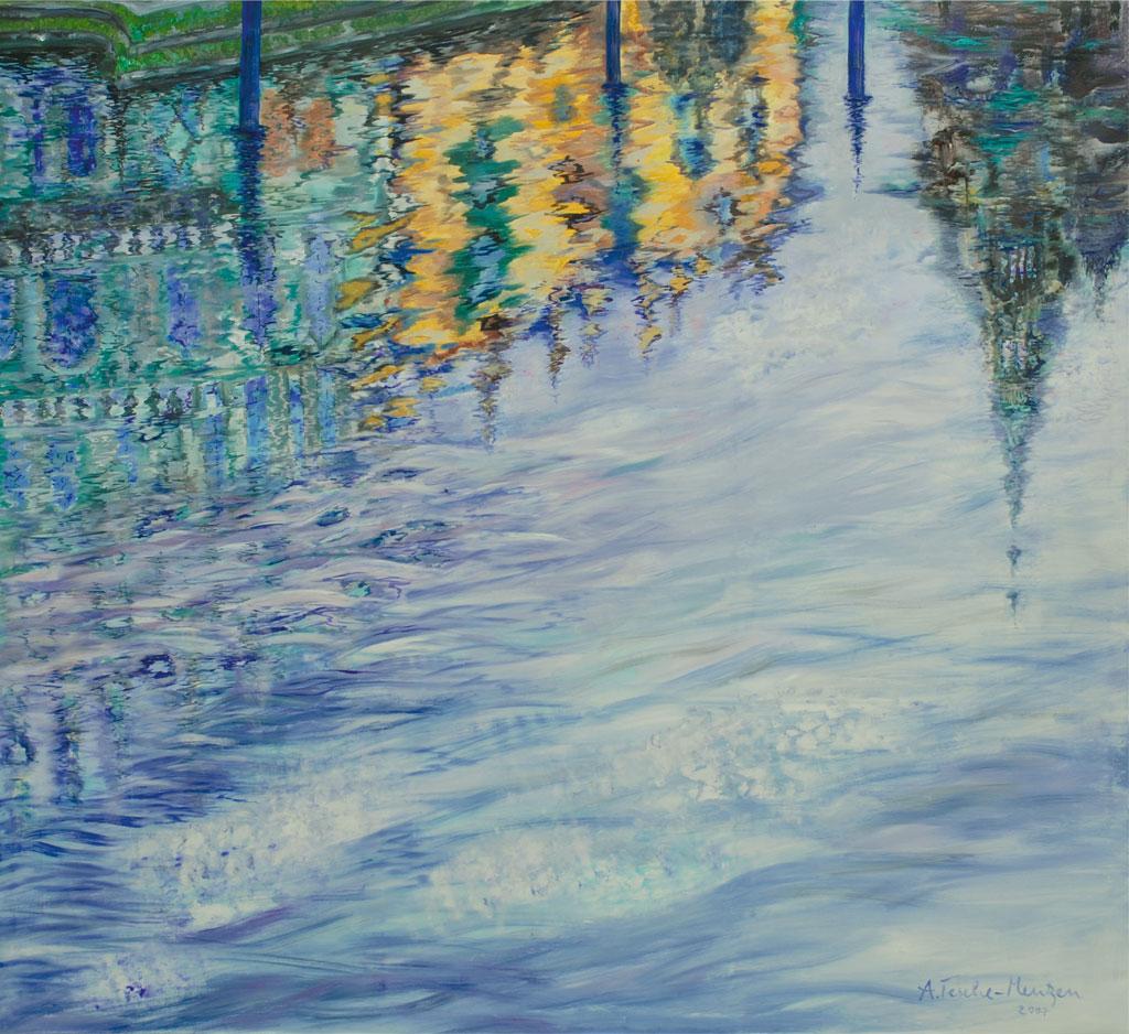 Wasserspiegelungen, Acryl (2,1 x 2,3 m) 2007