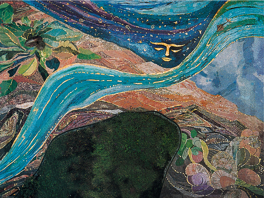 Schöpfung Mosaik, Katholische Akademie München (83 qm)